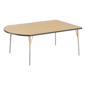 48in x 72in Work Around Premium Thermo-Fused Adjustable Activity Table Maple/Navy/Sand - Standard Swivel