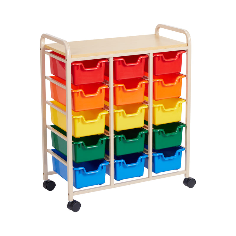 15-Bin Mobile Organizer Sand - Assorted Bins