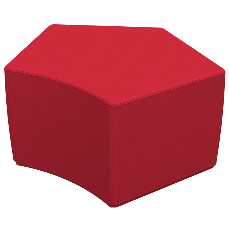SoftZone® Penta-Fun Ottoman Standard - Red
