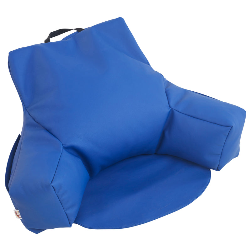 SoftZone® Relax-N-Read Bean Bag Chair - Blue