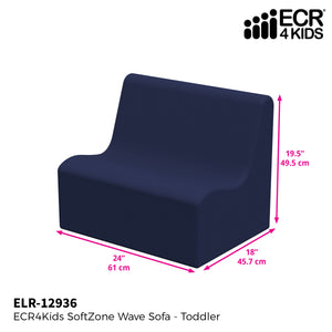 SoftZone® Wave Toddler Sofa - Navy
