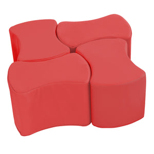 SoftZone® Butterfly Stool Set 4-Pack - Red