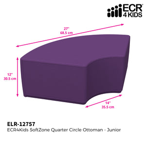 SoftZone® Quarter Circle Ottoman Junior - Purple