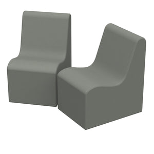 SoftZone® Wave Youth Chair 2-Pack - Grey
