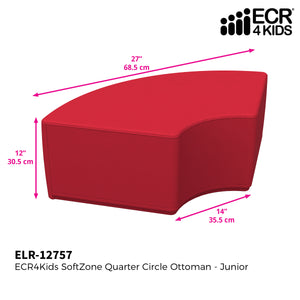 SoftZone® Quarter Circle Ottoman Junior - Red