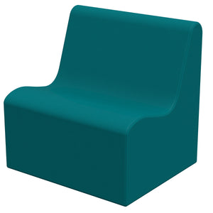 SoftZone® Wave Youth Sofa - Seafoam