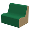 SoftZone® Wave Toddler Sofa - Green/Sand