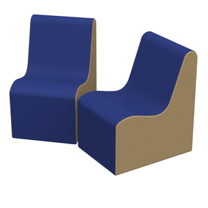 SoftZone® Wave Youth Chair 2-Pack - Blue/Sand