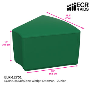 SoftZone® Wedge Ottoman Junior - Green
