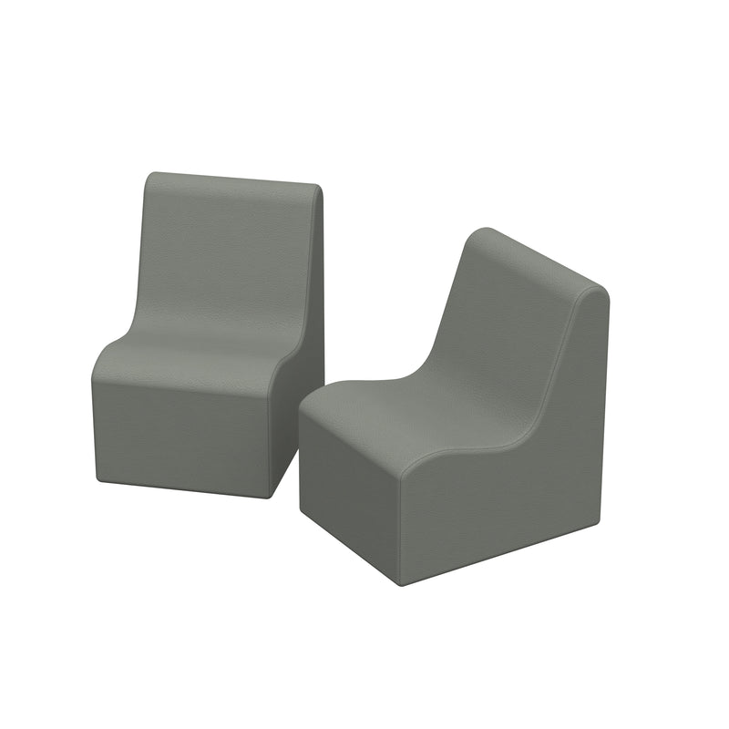 SoftZone® Wave Toddler Chair 2-Pack - Grey