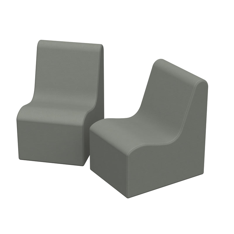 SoftZone® Wave Pre-School Chair 2-Pack - Grey