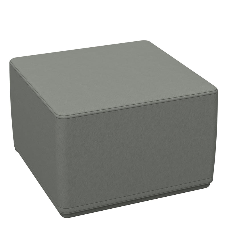 SoftZone® 18in Cube Ottoman Junior - Grey