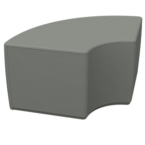 SoftZone® Quarter Circle Ottoman Standard - Grey
