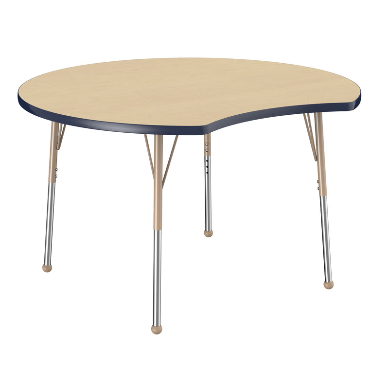 48in Crescent Premium Thermo-Fused Adjustable Activity Table Maple/Navy/Sand - Standard Ball