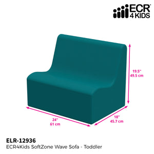 SoftZone® Wave Toddler Sofa - Seafoam