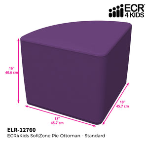 SoftZone® Pie Ottoman Standard - Purple