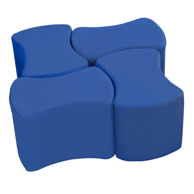 SoftZone® Butterfly Stool Set 4-Pack - Blue