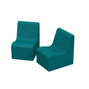 SoftZone® Wave Toddler Chair 2-Pack - Seafoam