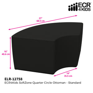 SoftZone® Quarter Circle Ottoman Standard - Black