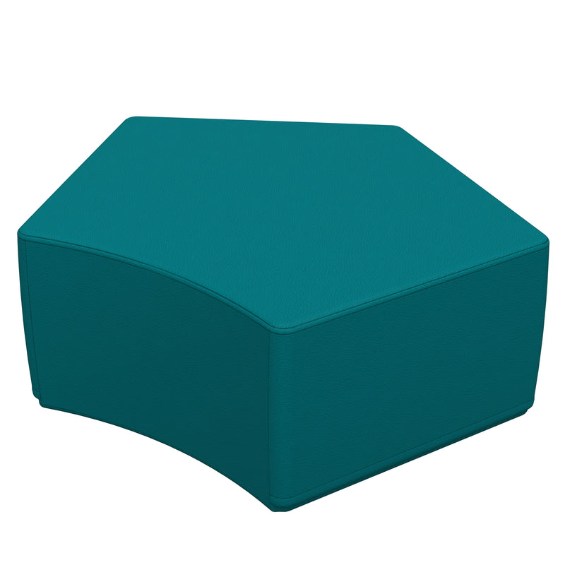 SoftZone® Penta-Fun Ottoman Junior - Seafoam