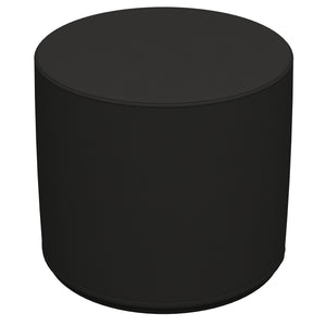 SoftZone® 18in Round Ottoman Standard - Black