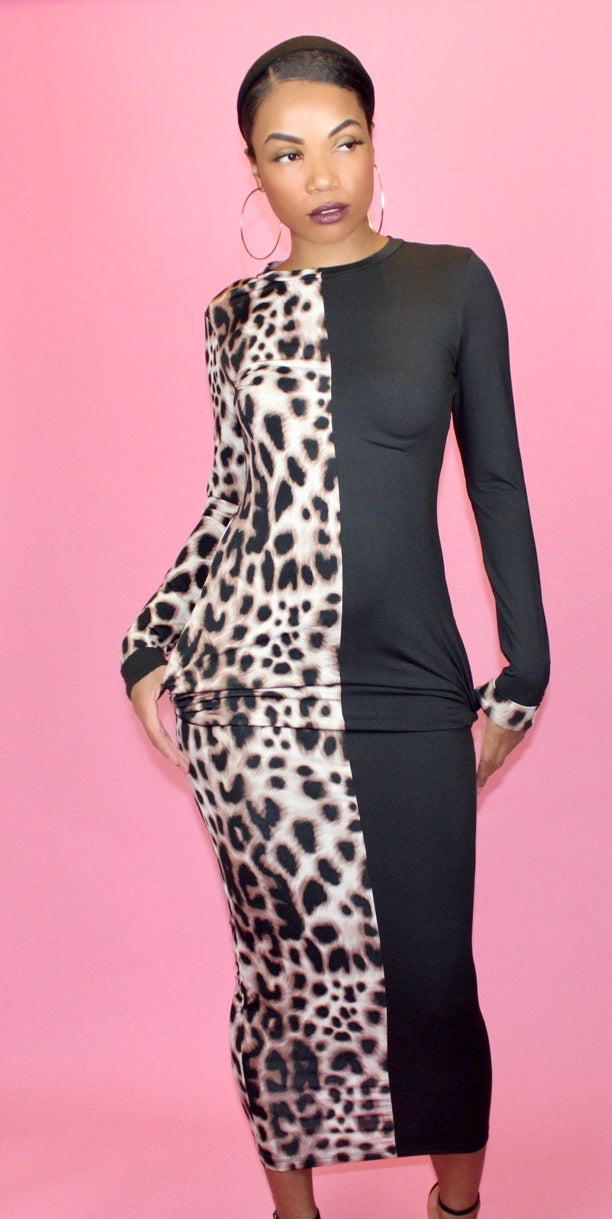 mixt maxi dress| leopard - Addressed Apparel