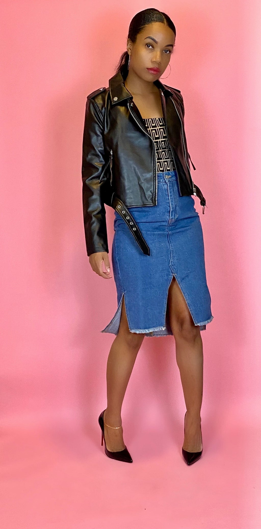 lisa lisa denim skirt - Addressed Apparel