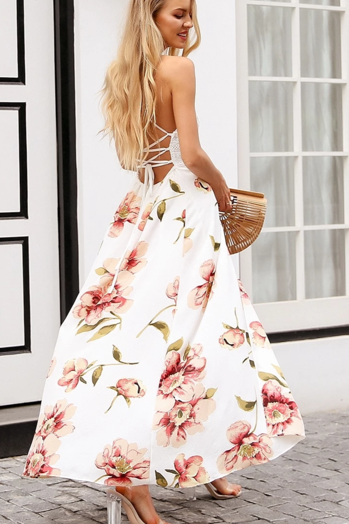 Chiffon Split Maxi Dress