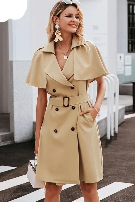 Double Breasted Trench Dress