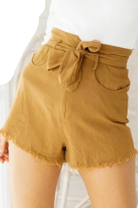 Bow High Waist Shorts
