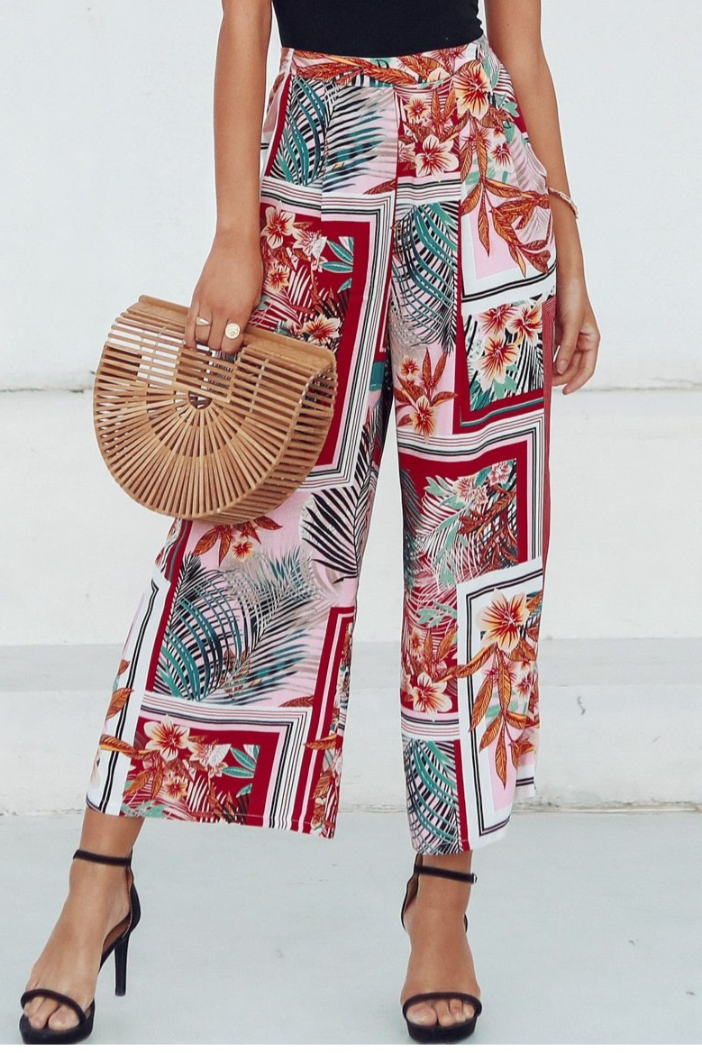 Boho Floral Patchwork Trousers