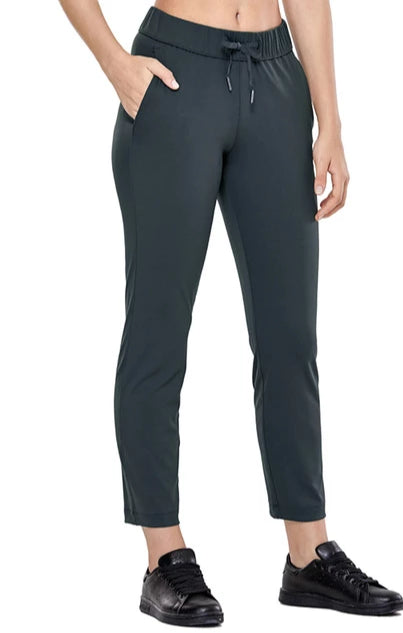 Drawstring Stretch Waist Workout Pants