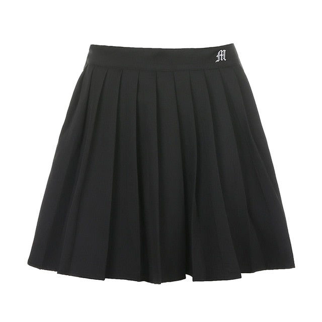 Preppy Pleated Mini High Waist Skirt