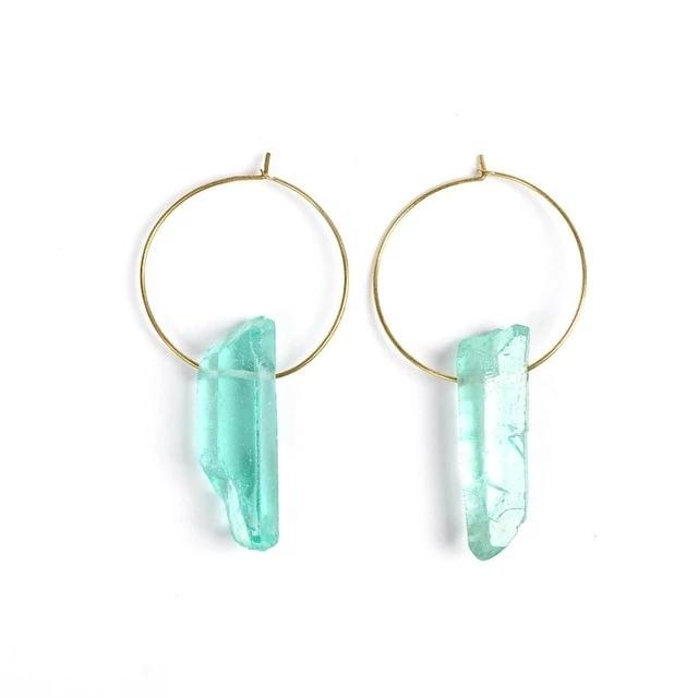 Raw Crystal Earrings