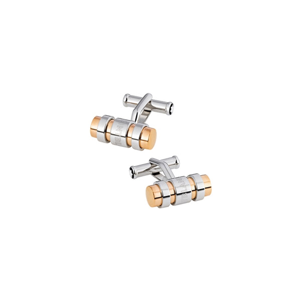 Cuff Links SIL bar 3 ring,steel rose pvd - [product_body] - Mont Blanc - Gioielleria Antonio Pezzuto
