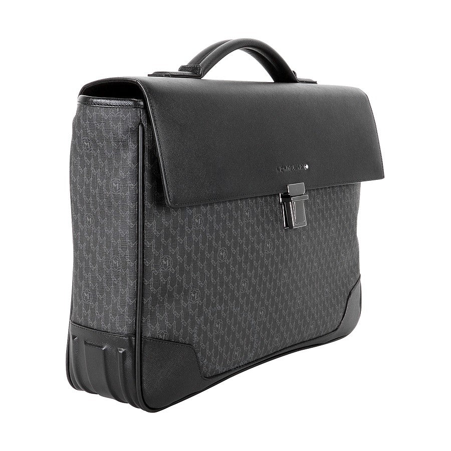 MB Signature Single Gusset Briefcase Bk