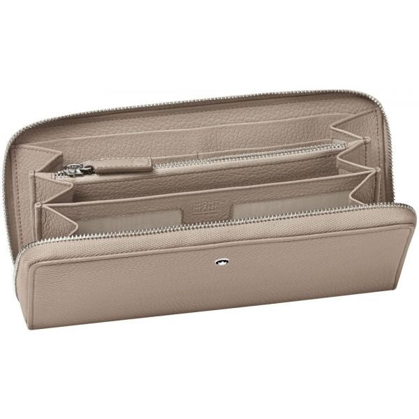 MST Soft Grain Wallet 8cc Zip Beige