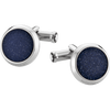 Cuff links, stainless steel, glass inlay - [product_body] - Mont Blanc - Gioielleria Antonio Pezzuto