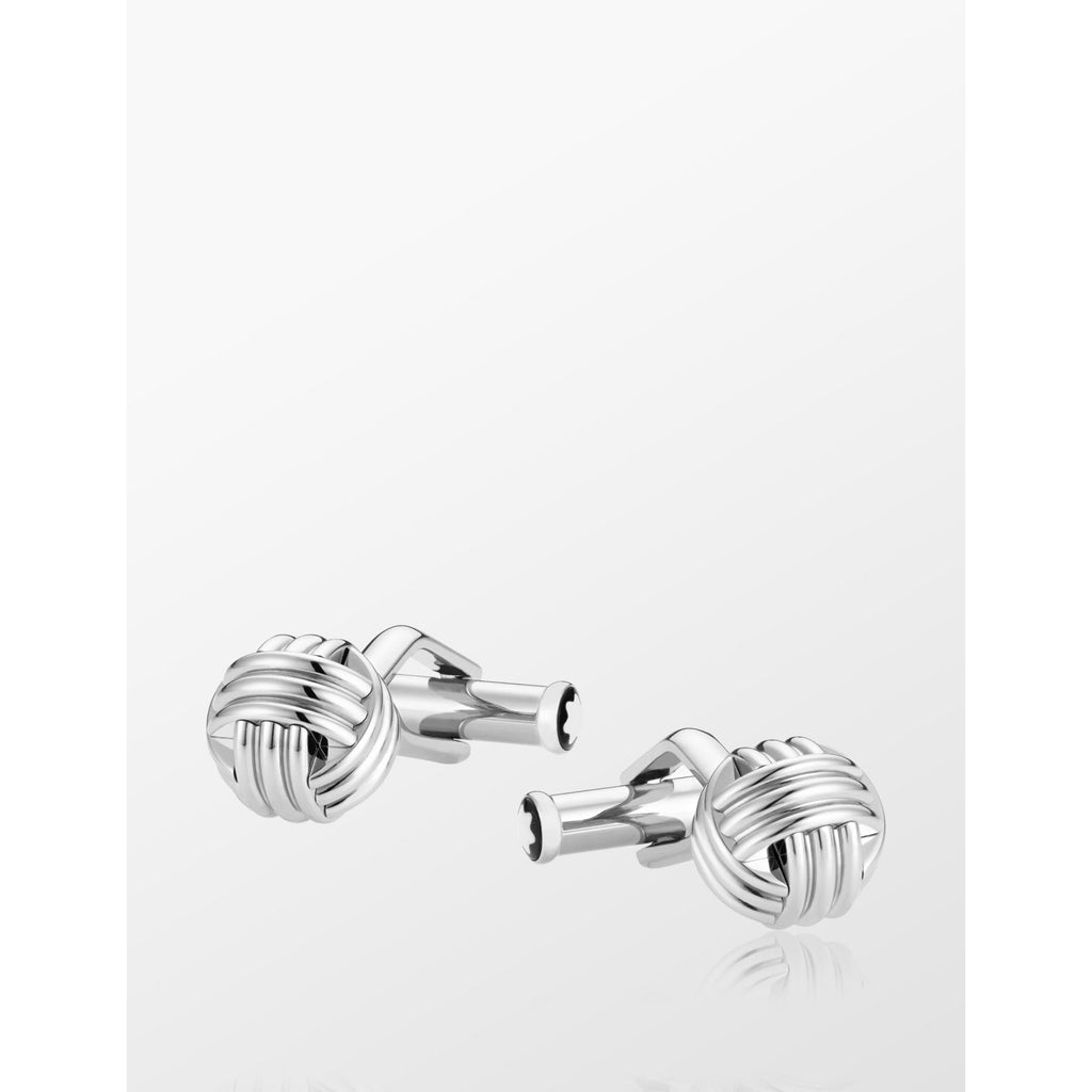 Cuff Links, knot in stainless steel - [product_body] - Mont Blanc - Gioielleria Antonio Pezzuto