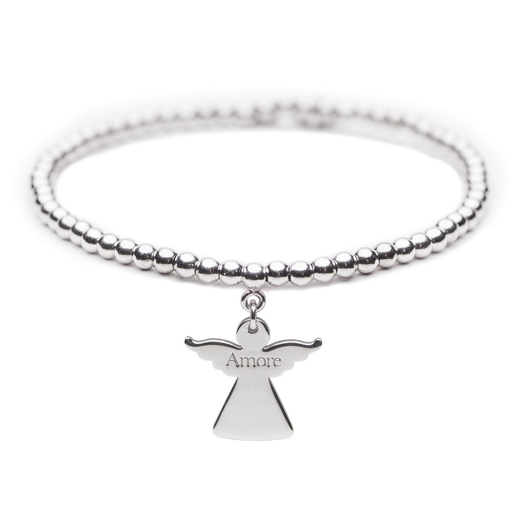 "BRACCIALE ARGENTO 925 ""ANGELO DELL'AMORE"" N.4"