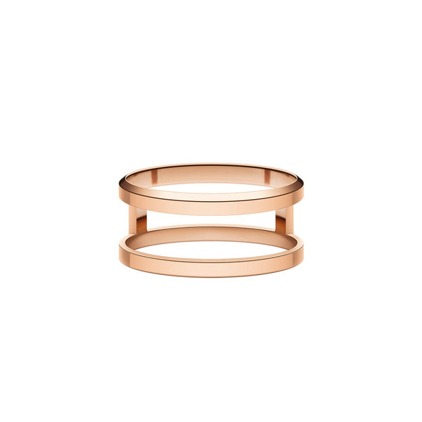 Elan Dual Ring Rose Gold