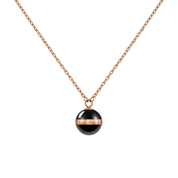 Aspiration Necklace Rose Gold Black