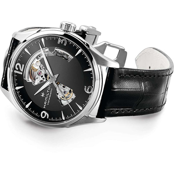 JAZZMASTER OPEN HEART AUTO 42 mm Black