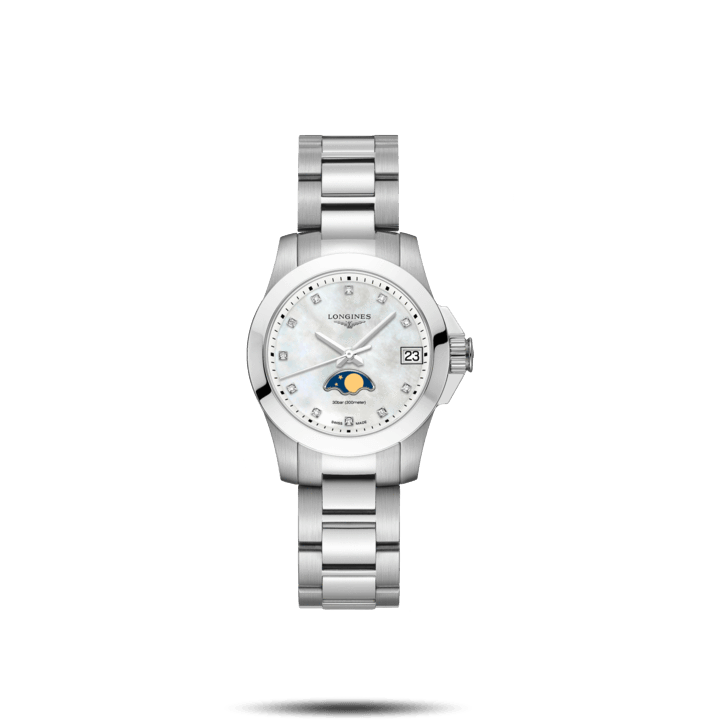 Conquest Fasi lunari 29,5 mm White - [product_body] - Longines - Gioielleria Antonio Pezzuto