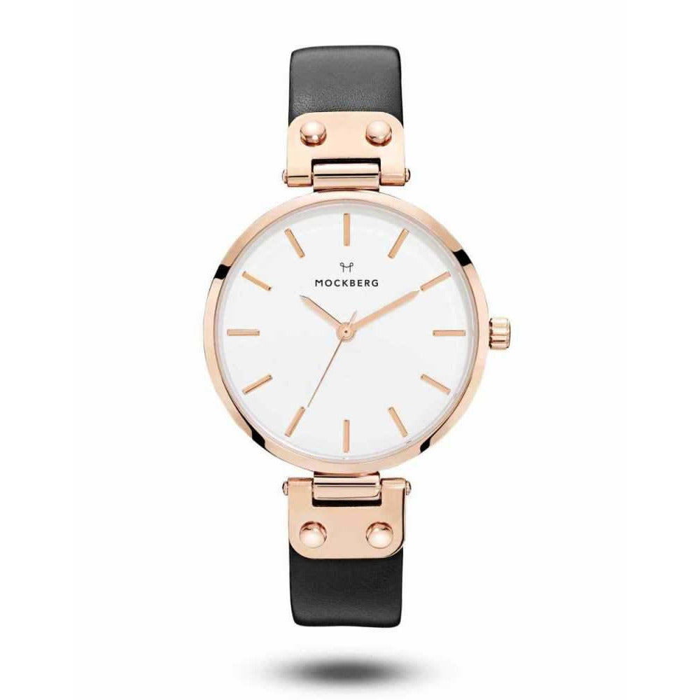 OROL MCK SIGRID 34MM BLACK LEATHER RG W - [product_body] - Mockberg - Gioielleria Antonio Pezzuto