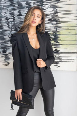 Bubble shoulder blazer