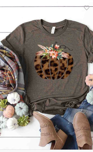 Fall T-shirt heather brown