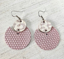 Load image into Gallery viewer, Eclipse leather earrings