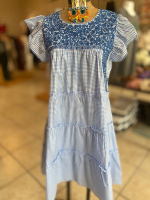 J Marie embroidery dress