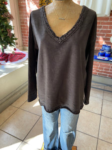 Reversible sweater charcoal